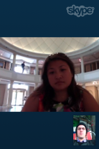 "Images from my skype performance "" The Artist is NOT Present"" at the Philbrook Museum of Fine Arts."